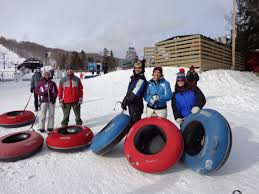 Group from NYC snow tubing